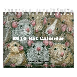 Calendario 2010 de la rata de Kathy Clemente