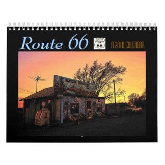 Calendario 2010 de la ruta 66