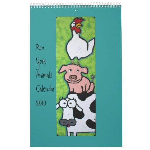Calendario 2010 de los animales de Ron York