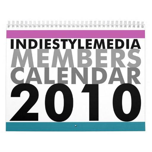 Calendario 2010 de los miembros de los medios del