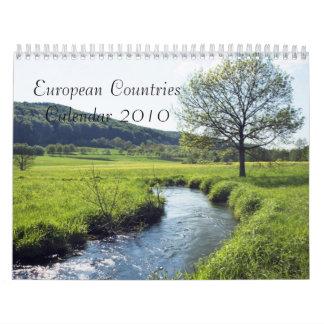 Calendario 2010 de los países europeos