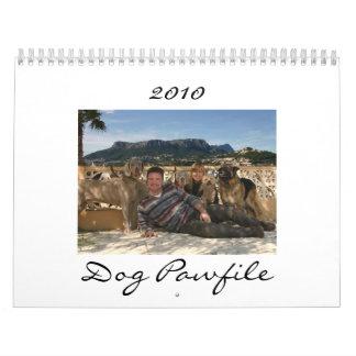 Calendario 2010 de Pawfile del perro