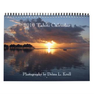 Calendario 2010 de Tahití