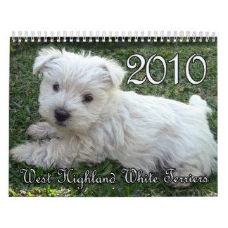 Calendario 2010 de Westie