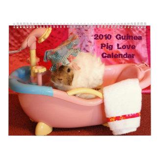 Calendario 2010 del amor del conejillo de Indias
