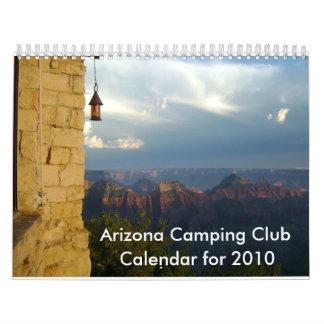 Calendario 2010 del club de Arizona que acampa