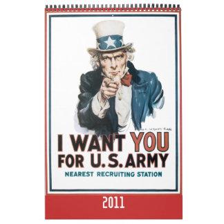 Calendario 2010 del poster de la guerra mundial