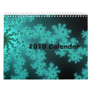 Calendario 2010 - hecho con imágenes abstractas