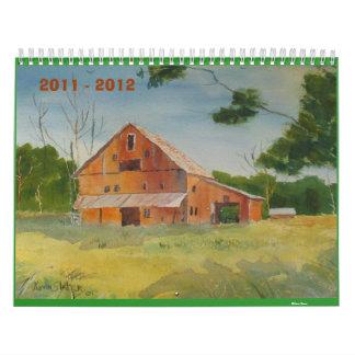 calendario 2011 - 2012 del pizarrero de Kevin