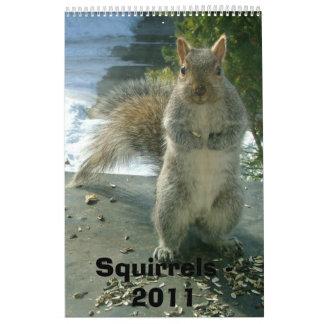 Calendario 2011 de la ardilla