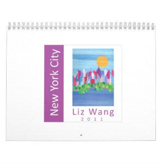 Calendario 2011 de la bella arte de New York City