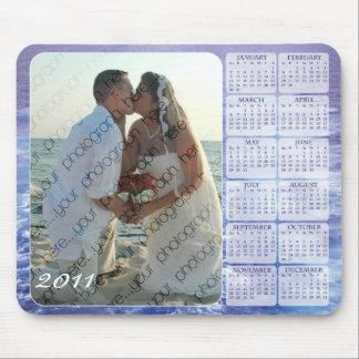 Calendario 2011 de la foto del océano Mousepad Tapete De Ratón