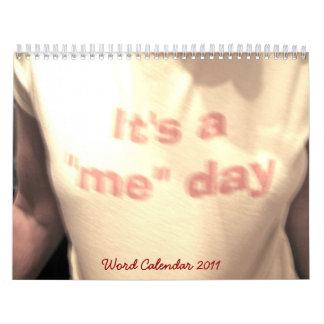 Calendario 2011 de la palabra