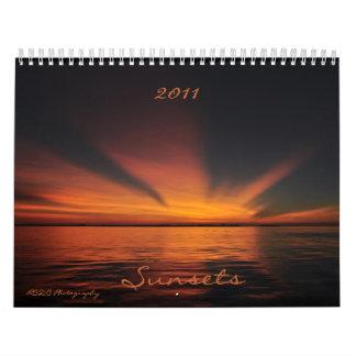 Calendario 2011 de la puesta del sol