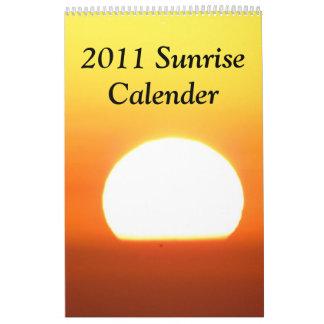 Calendario 2011 de la salida del sol