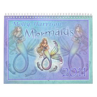 Calendario 2011 de la sirena por Molly Harrison
