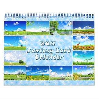 Calendario 2011 de la tierra de la fantasía