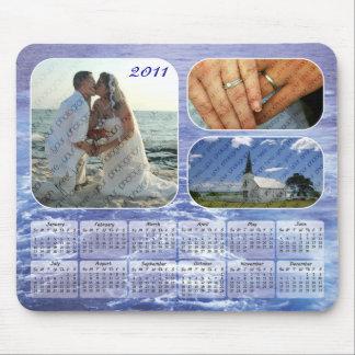 Calendario 2011 de las fotos del océano Mousepad Alfombrillas De Ratón