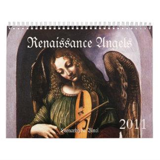 Calendario 2011 de los ángeles del renacimiento