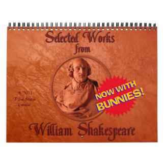 Calendario 2011 de los conejitos de Shakespeare