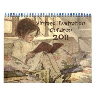 Calendario 2011 de los niños del ejemplo del vinta
