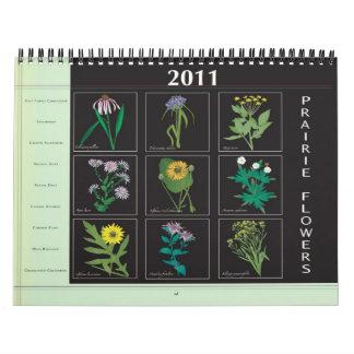 Calendario 2011 de los Wildflowers de la pradera