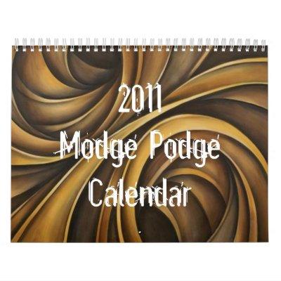 Calendario 2011 de Modge Podge