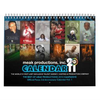 Calendario 2011 del aniversario de las
