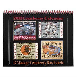 Calendario 2011 del arándano