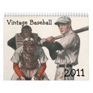 Calendario 2011 del béisbol del vintage