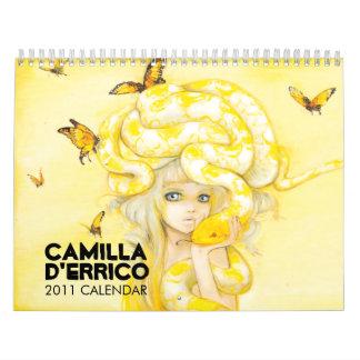 Calendario 2011 del d'Errico de Camila