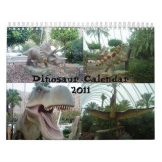 Calendario 2011 del dinosaurio