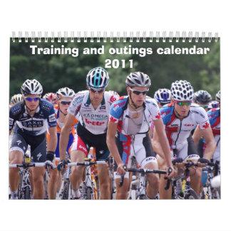 Calendario 2011 del entrenamiento y de las excursi