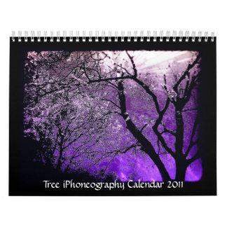 Calendario 2011 del iPhoneography del árbol