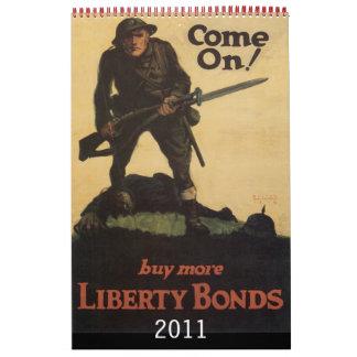Calendario 2011 del poster de la guerra del