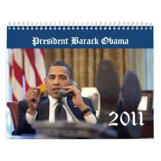 Calendario 2011 del recuerdo de presidente Barack
