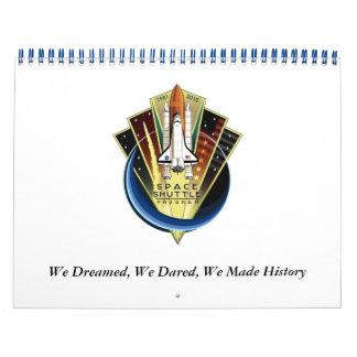 Calendario 2011 del tributo del transbordador