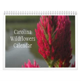 Calendario 2011 o 2012 de los Wildflowers de
