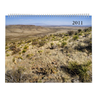 Calendario 2011; Paisajes occidentales (sobre