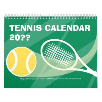 Calendario 2012 2013 del tenis con el texto
