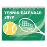 Calendario 2012 2013 del tenis con el texto adapta