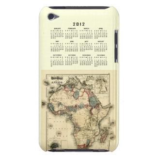 Calendario 2012 con la plantilla del mapa de Áfric iPod Touch Case-Mate Cobertura