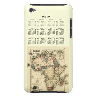 Calendario 2012 con la plantilla del mapa de Áfric Case-Mate iPod Touch Fundas