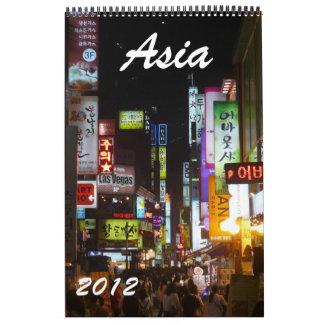 calendario 2012 de Asia
