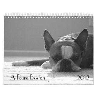 Calendario 2012 de Boston Terrier