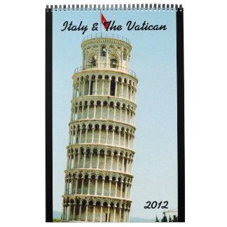 calendario 2012 de Italia y de vatican