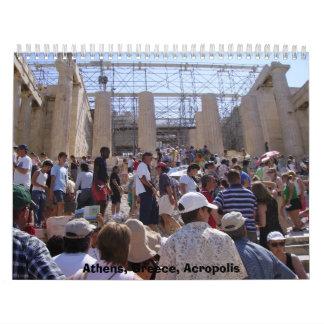 Calendario 2012 de la acrópolis de Atenas
