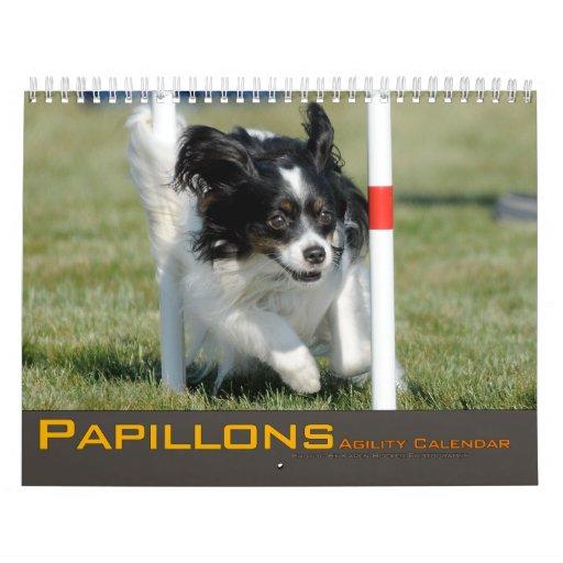 Calendario 2012 de la agilidad de Papillons