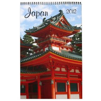 calendario 2012 de la arquitectura de Japón