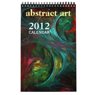 Calendario 2012 de la bella arte del arte abstract